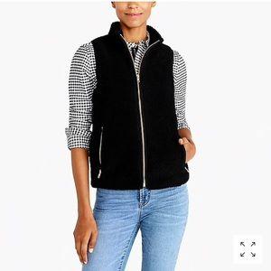 J. Crew women's sherpa/fleece vest (black)